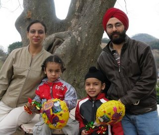 Captain Chawla and his family