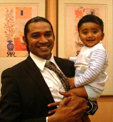 CO Chetan and his cute baby, on a happier day