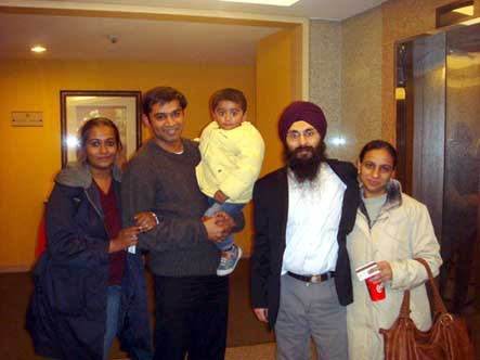 The two officers with their wives and CO Syam's son, upon being released from South Korean prison on January 15th, 2009.